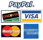 PayPal & Major Credit Cards Accepeted